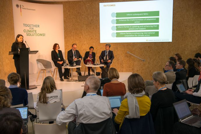 "Panel des BMBF-Side Event ""Global Stocktake: Information from science"" auf dem deutschen Pavillon (COP 23, Bonn)"