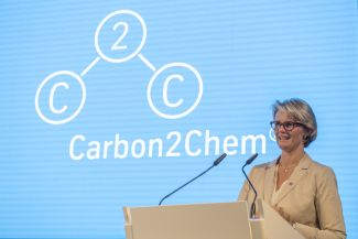 """Investments in environmentally friendly technologies pay off! Thanks to research and innovation, climate protection and a competitive steel production are linked"", says Anja Karliczek."