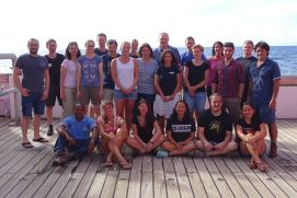 23 Scientists take part in the SO262 expedition the research vessel SONNE. The journey leads the researchers in the German license area for the exploration of manganese nodules in the Pacific.