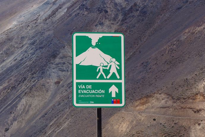 In the Chilean Andes, the danger of volcano activity is constantly present.