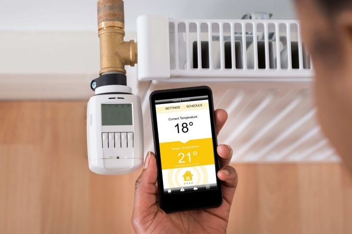 Adjusting Temperature On Thermostat Using Cellphone