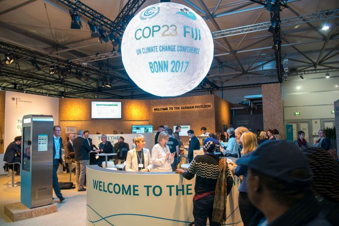 The German Pavilion at the World Climate Conference 2017 (COP23) in Bonn