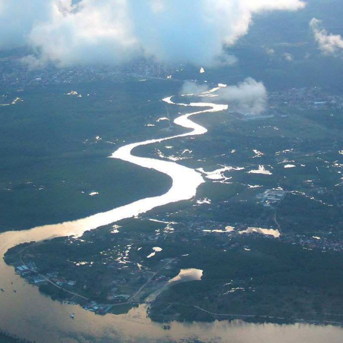 River in the tropical north of Brazil