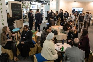 The German pavilion at COP24 provided space for dialogue.