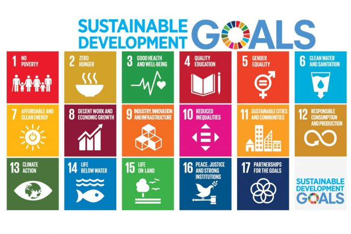 Logos der 17 Sustainble Development Goals.