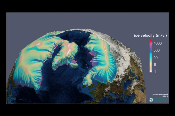 Glacial maximum ice sheets modeled with PISM (Parallel Ice Sheet Model)