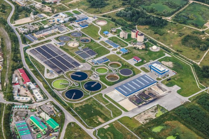 Wastewater treatment plants are an important source of phosphorus